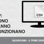 Che cosa sono i file CSV?