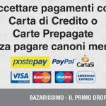 Accettare pagamenti con Carta di Credito o Carte Prepagate