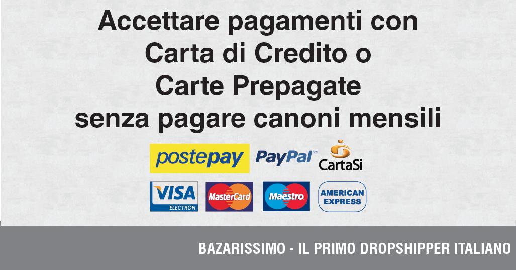 Accettare pagamenti con carta di credito o carte prepagate for Carta di credito per minorenni