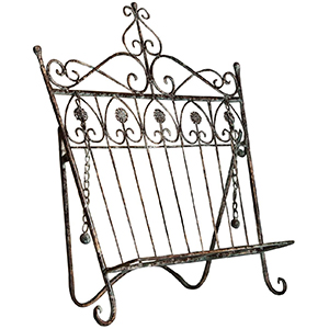 Lectern stand-wrought iron antique rust finish 42x26x26