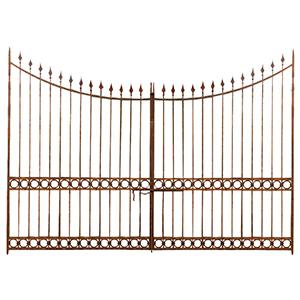 Cancello in ferro pieno L400xPR4xH289 cm