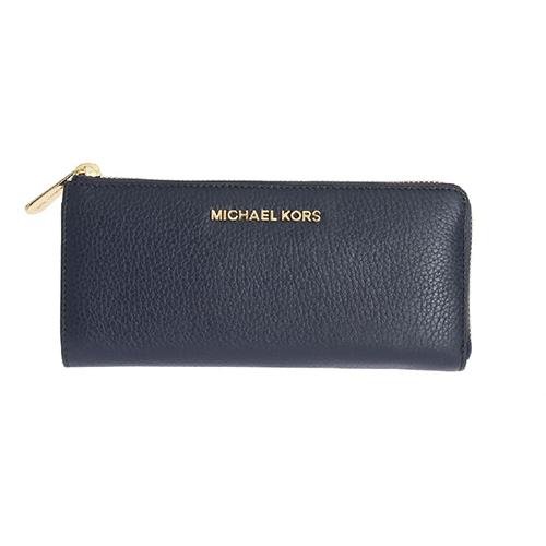 Michael Kors Portafoglio in pelle blu navy BEDFORD