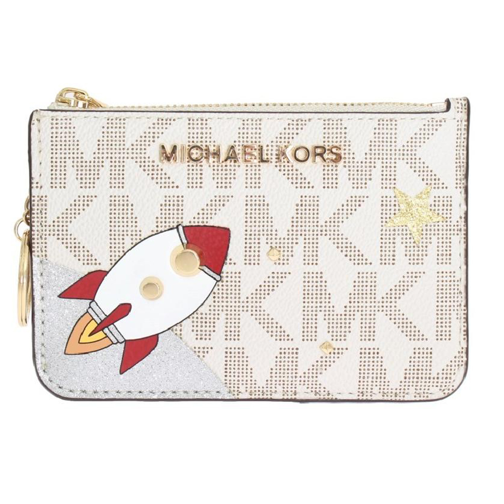 Michael kors White ILLUSTRATIONS Key Ring Pouch Wallet